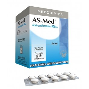 AAS 500MG ADULTO MEDQUIMICA 10 COMPRIMIDOS (AS-MED)
