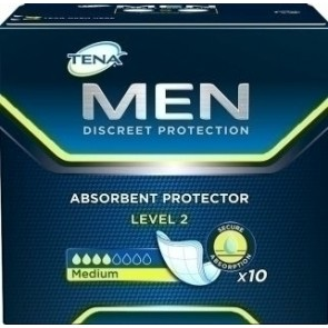 ABSORVENTE TENA MEN LEVEL 2 10 UNIDADES