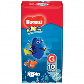FRALDA HUGGIES MAR E PISCINA LITTLE SWIMMERS G 10 UNIDADES