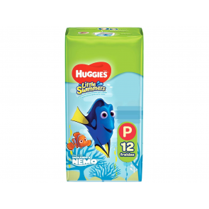 FRALDA HUGGIES MAR E PISCINA LITTLE SWIMMERS P 12 UNIDADES